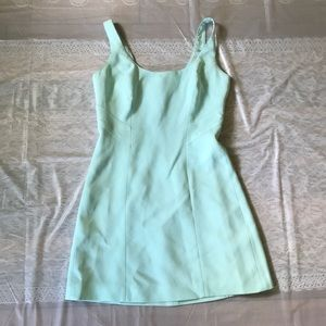 Bebe San Francisco green dress